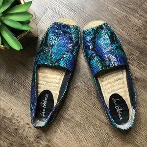 Sam Edelman Espadrilles snake print shoes size 10